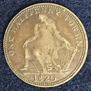 1820 Half Penny Trade and Navigation
