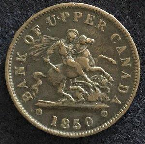 1850 Upper Canada penny