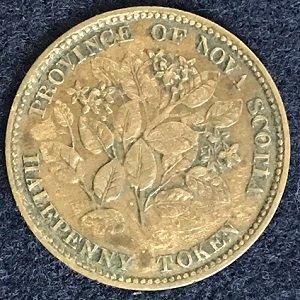 1856 Nova Scotia halfpenny