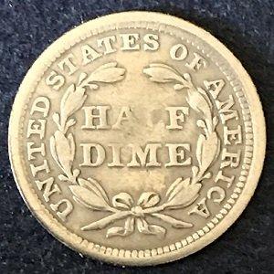 1858 Half Dime USA