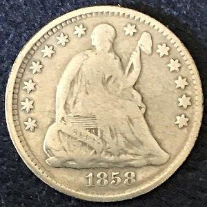 USA half dime 1858
