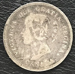 Canadian 5 Cents 1872H