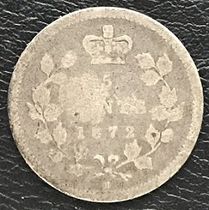1872H 5 cents Canada