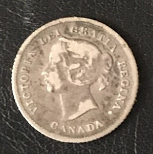 Canada small 5 cents 1874