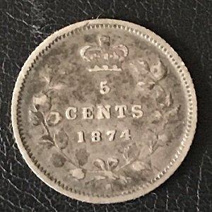 1874 Plain 4 5 cents