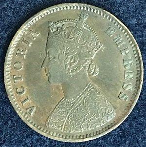 india 1879 1/4 anna