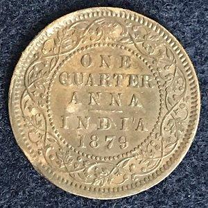 1879 1/4 Anna
