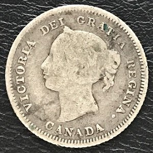 Canada 1881H five cents silver