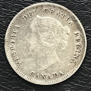 1888 five cents Canada silver