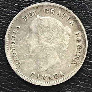 1888 five cents Canada silver