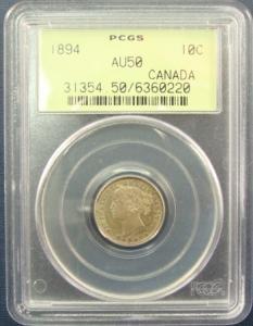 Canada 1894 10 cent PCGS