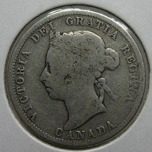 1900 quarter Canada silver coin