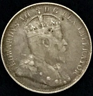 1902 Small H 5 Cents Canada