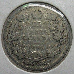 1903 25 cent Canada