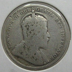 25 cents 1905 canadian
