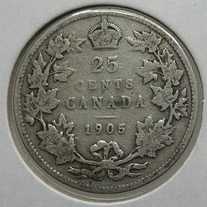 1905 Canada 25 cents