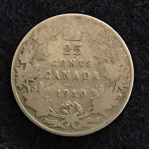 1910 25 Cents Canada