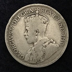 1917 sterling silver 25 cents
