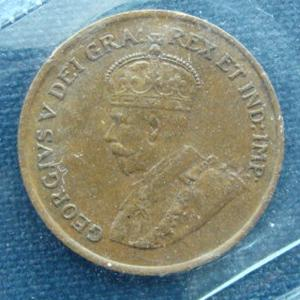 1925 Canadian penny