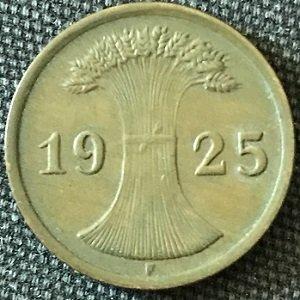 1925 german 2 reichspfennig