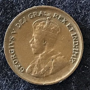 1929 Canadian penny