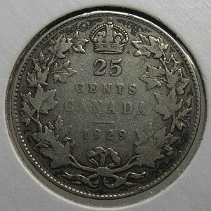 1929 25 Cents Canada