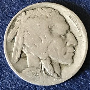 1929 USA 5 Cents indian head