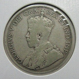1932 fifty cents Canada