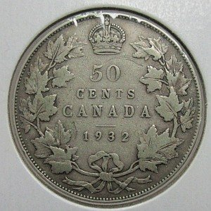1932 50 cents Canada