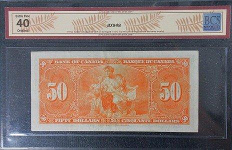 1937 $50 Canada EF40