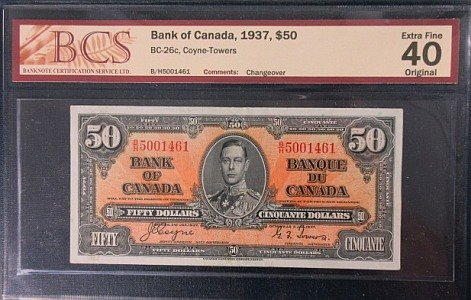 1937 Bank of Canada $50 1937