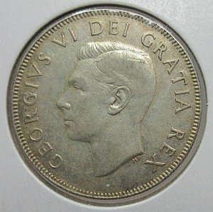 1948 50 cents canada