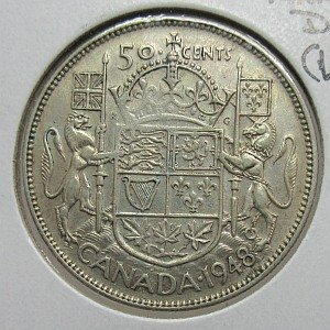 1948 fifty Cents Canada
