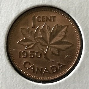1950 Canadian One Cent