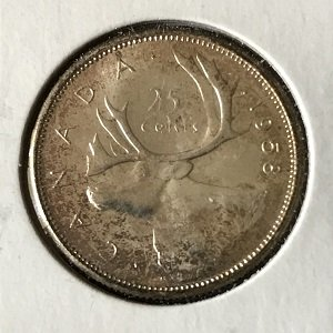 1958 Canada quarter Uncirculated
