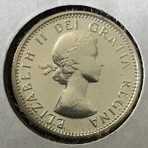 1962 Canadian dime