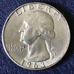 1963 USA quarter silver