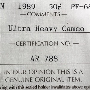 1989 certified iccs 50 cents