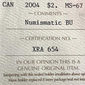 NBU MS67 $2 @004