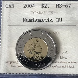 2004 Canada $2 Certified MS67