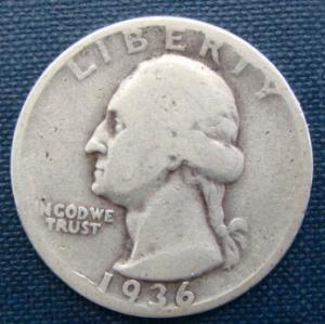 1936D 25 Cents USA