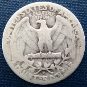 1936 D Quarter 25 cents