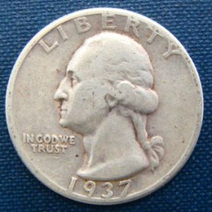 1937 25 cents USA