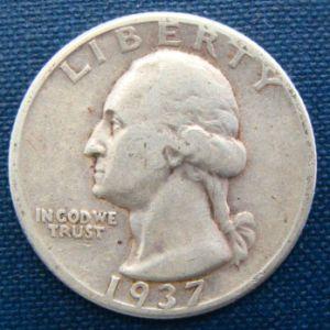 1937 25 cents USA