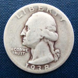 1938 usa 25 cents