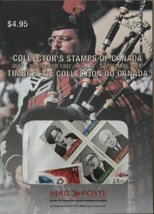 1997 quarter stamp pack Canada
