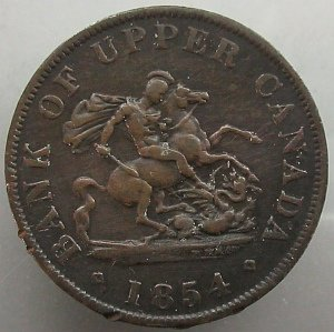 Upper Canada half penny