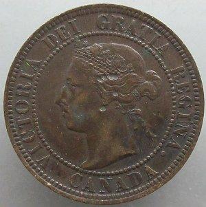 1896 penny Canada