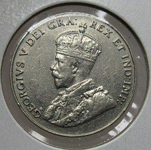 1932 canadian nickel 5 cents