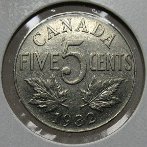 1932 5 cents Canada